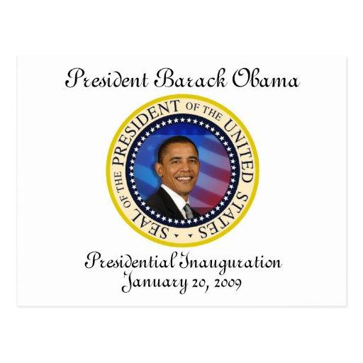 Le Président Obama Keepsake Presidential Inaugurat Carte Postale