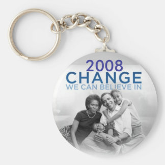 Le Président Obama Keepsakes First Family Porte-clé Rond