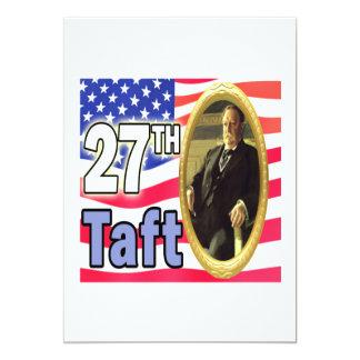 Le Président Taft Carton D'invitation 12,7 Cm X 17,78 Cm