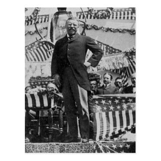 Le Président Theodore Roosevelt au Wyoming Cartes Postales