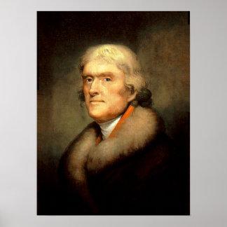 Le Président Thomas Jefferson Posters
