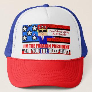 Le Président Trump et casquette de bande dessinée
