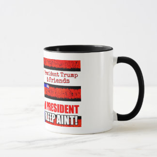 Le Président Trump et tasse d'amis