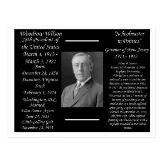 Le Président Woodrow Wilson Carte Postale