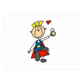 Le prince charme propose le mariage carte postale