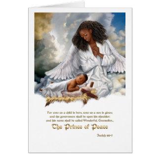 Le prince de la paix. Ange d'Afro avec des cartes