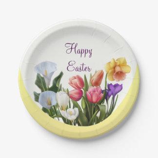 Le printemps floral de Pâques de ressort fleurit Assiettes En Papier