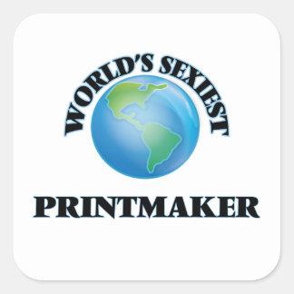 Le Printmaker le plus sexy du monde Sticker Carré