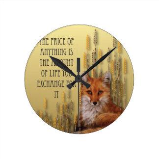 Le prix de n'importe quoi est la quantité de la horloge ronde