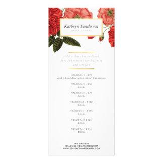 Le PRIX de PROMO ENTRETIENT la fleur de rose rouge Carte Publicitaire