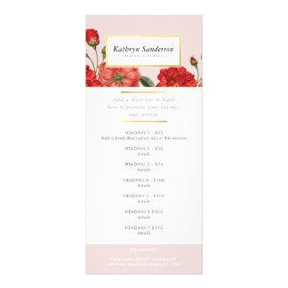 Le PRIX de PROMO ENTRETIENT la fleur de roses Carte Publicitaire