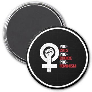 Le Pro-Féminisme pour l'avortement et l'euthanasie Magnet Rond 7,50 Cm