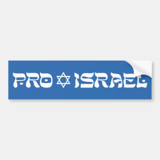 Le pro Israël Autocollant Pour Voiture