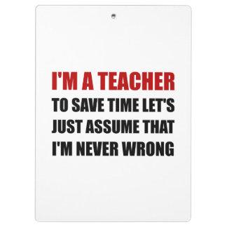 Le professeur épargnent le temps jamais faux