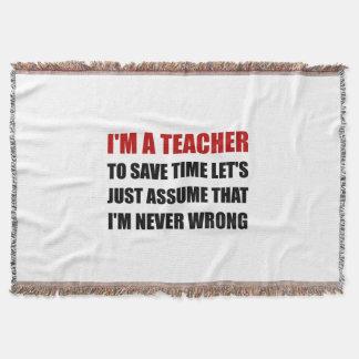 Le professeur épargnent le temps jamais faux couvertures