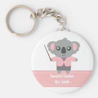 Le professeur le plus doux, ours de koala mignon, porte-clé rond