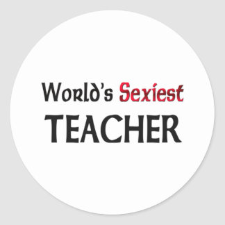 Le professeur le plus sexy du monde autocollants ronds