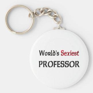 Le professeur le plus sexy du monde porte-clé rond