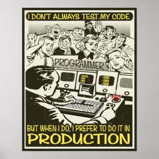 Le programmeur I n'examinent pas toujours mon code Affiche