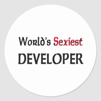 Le promoteur le plus sexy du monde adhésifs ronds