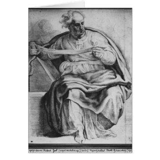 Le prophète Joel, après Michangelo Buonarroti Carte De Vœux
