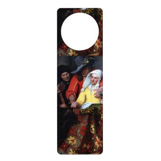 Le proxénète par Johannes Vermeer Cintre De Porte