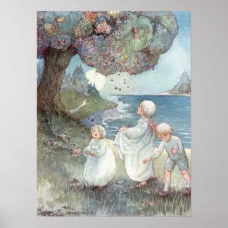 Le prunier de sucre par Anne Anderson Poster