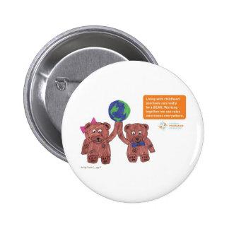 """Le """"psoriasis peut être goupille d'un ours"""" badge"""