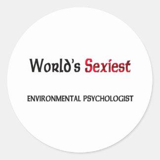 Le psychologue de l environnement le plus sexy du autocollants ronds