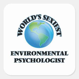 Le psychologue de l'environnement le plus sexy du sticker carré