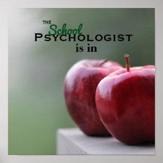 Le psychologue d'école est en affiche poster
