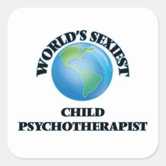 Le psychothérapeute de l'enfant le plus sexy du sticker carré