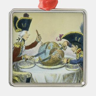 Le pudding de prune en danger, 1805 ornement carré argenté