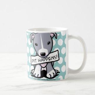 Le puits se produit chien de pitbull mug