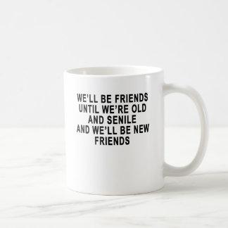 Le puits soit des amis jusqu'à étaient vieux et mug