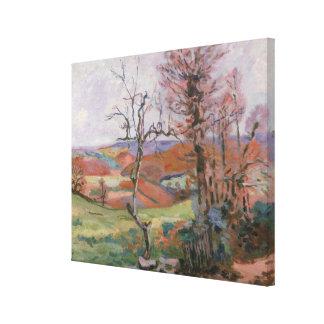 Le Puy Barion chez Crozant, la Bretagne (huile sur Toiles