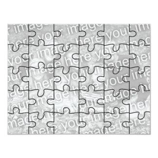 """Le puzzle personnalisable Card-30 de """"moquerie"""" de Carton D'invitation 10,79 Cm X 13,97 Cm"""