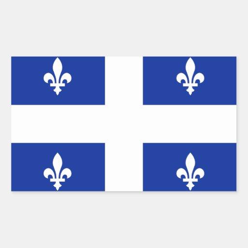le Québec Autocollant Rectangulaire