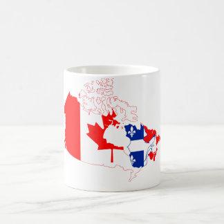 Le Québec dans le drapeau du Canada, carte Mug Blanc