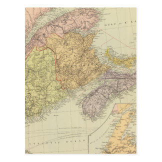Le Québec, Nouveau Brunswick, la Nouvelle-Écosse Carte Postale