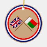 Le R-U et les drapeaux croisés par Madagascar Décoration De Noël