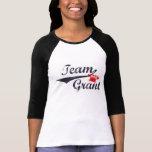 Le raglan des femmes de Grant d'équipe - taille T-shirt