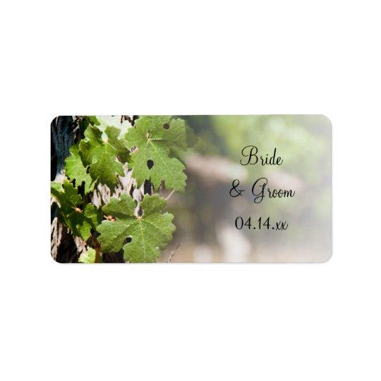 Le raisin laisse des étiquettes de faveur de