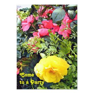 Le Ranunculus fleurit la partie Carton D'invitation 12,7 Cm X 17,78 Cm