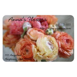 le ranunculus fleurit l'aimant flexible de carte d magnet
