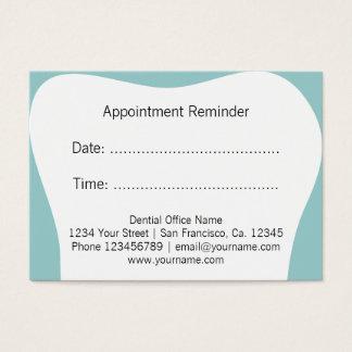 Le rappel de rendez-vous de dentiste carde le cartes de visite