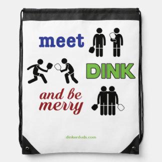 """Le """"rassemblement, Dink, et soit joyeux"""" sac à dos"""