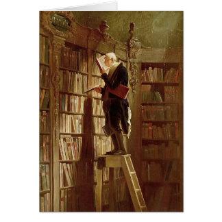 Le rat de bibliothèque carte de vœux