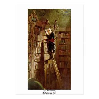 Le rat de bibliothèque, par Spitzweg, Karl Carte Postale
