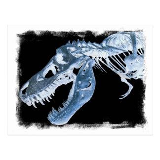 Le rayon X bleu et noir de T-Rex désosse la photo Carte Postale